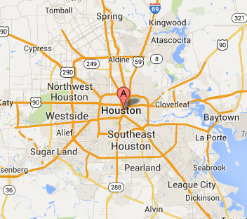 houston texas service map