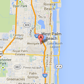 wpb, fl map